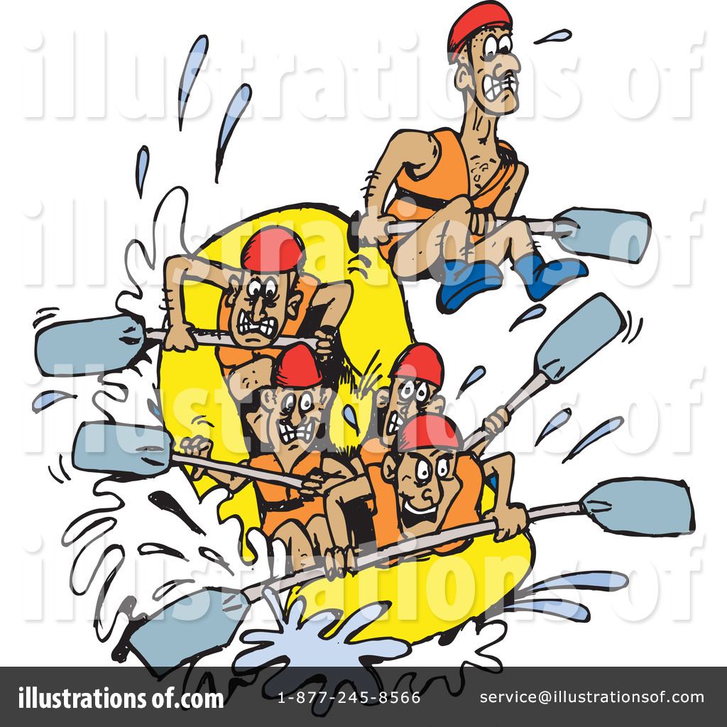 Rafting Clipart #65510 - Illustration by Dennis Holmes Designs