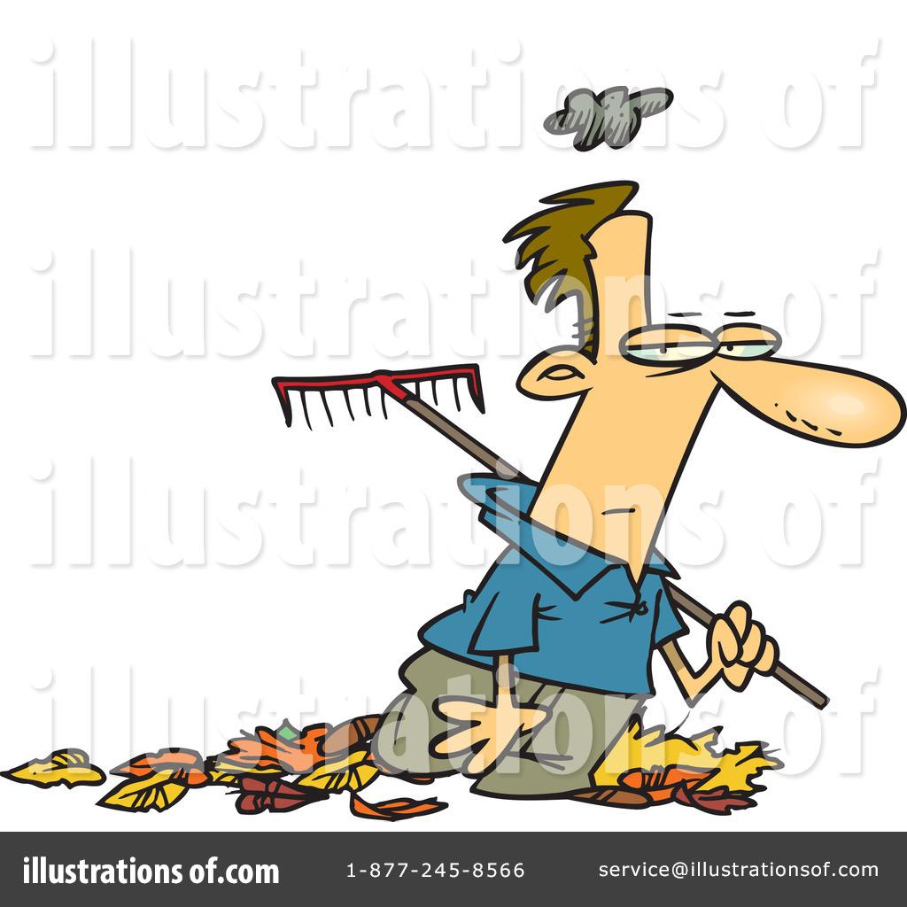 Raking Leaves Clipart 433423 Illustration By Toonaday