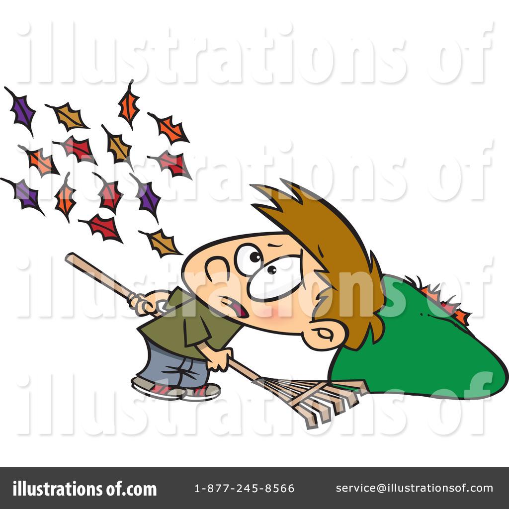 Raking Leaves Clipart 437227 Illustration By Toonaday