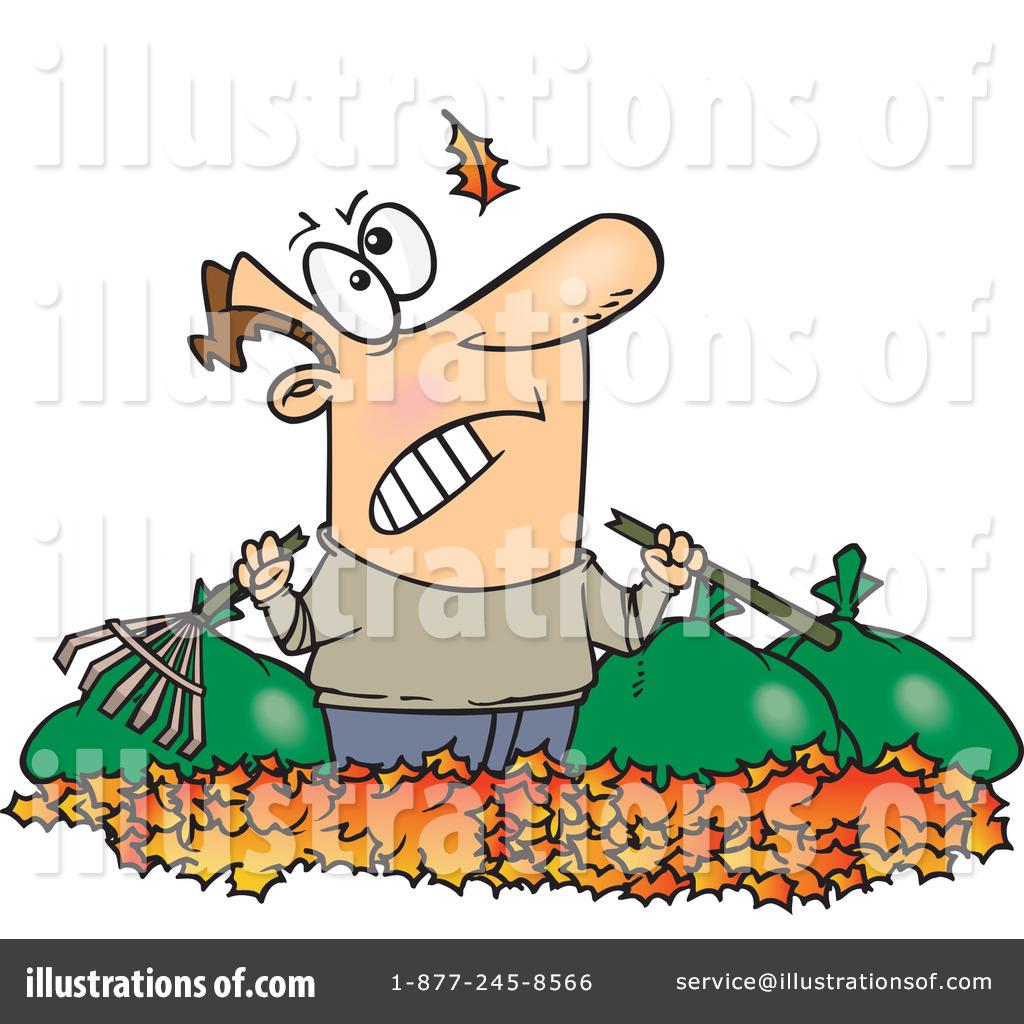 Raking Leaves Clipart 441610 Illustration By Toonaday