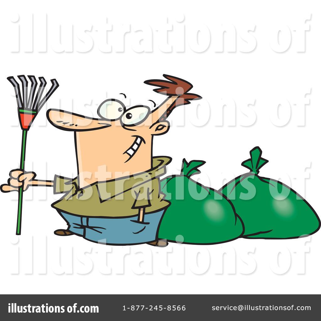 Raking Leaves Clipart 443604 Illustration By Toonaday