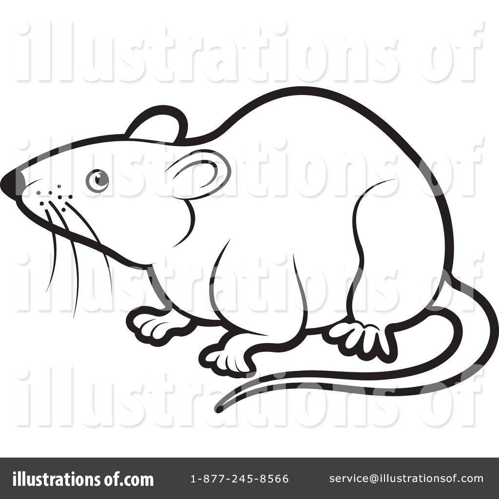 Rat Clipart #434897 - Illustration by Lal Perera