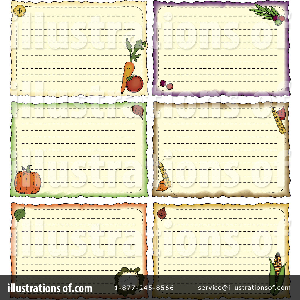 Recipe Card Clipart 231529 Illustration by inkgraphics – Sample Recipe Card