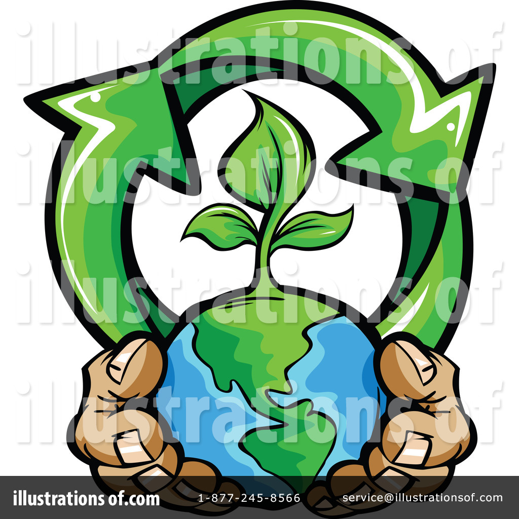 Recycle Clipart #1097101 - Illustration by Chromaco