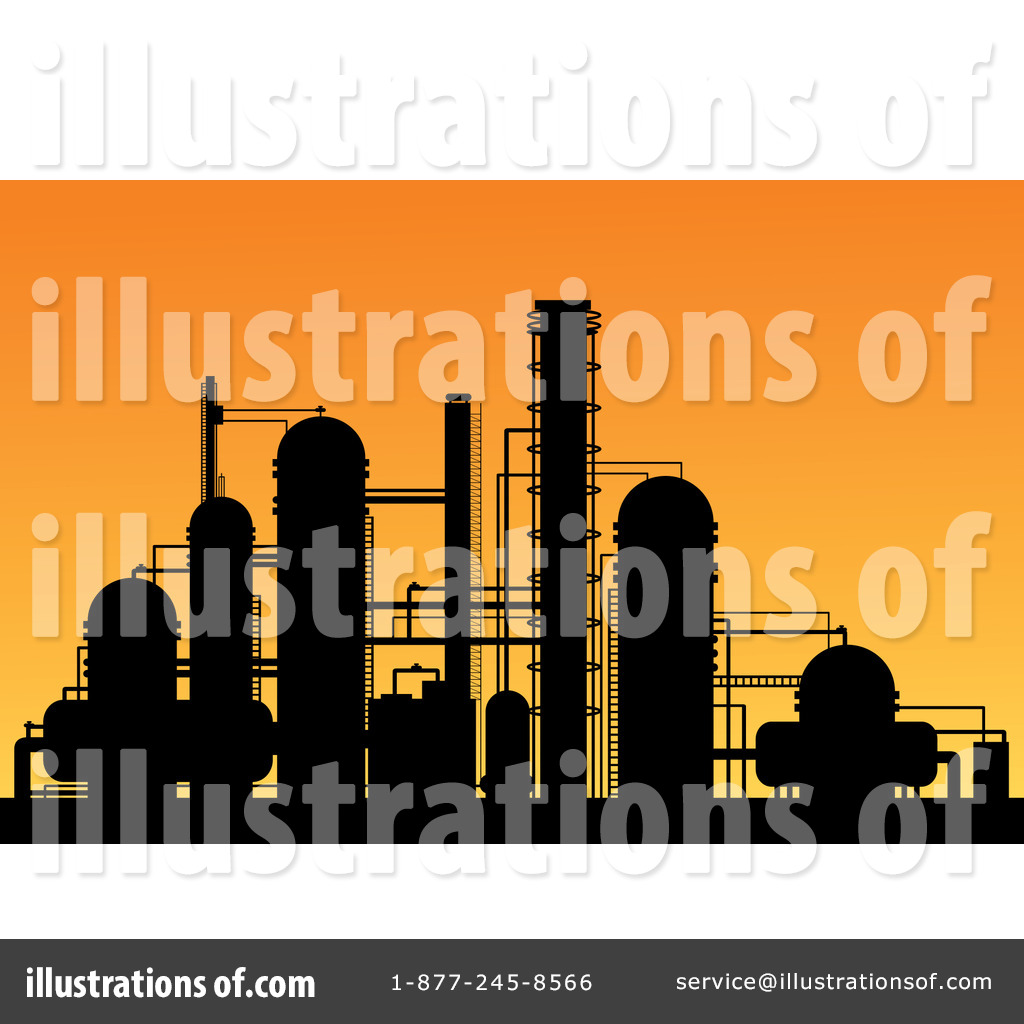Refinery Clipart #1160212 - Illustration by Vector Tradition SM