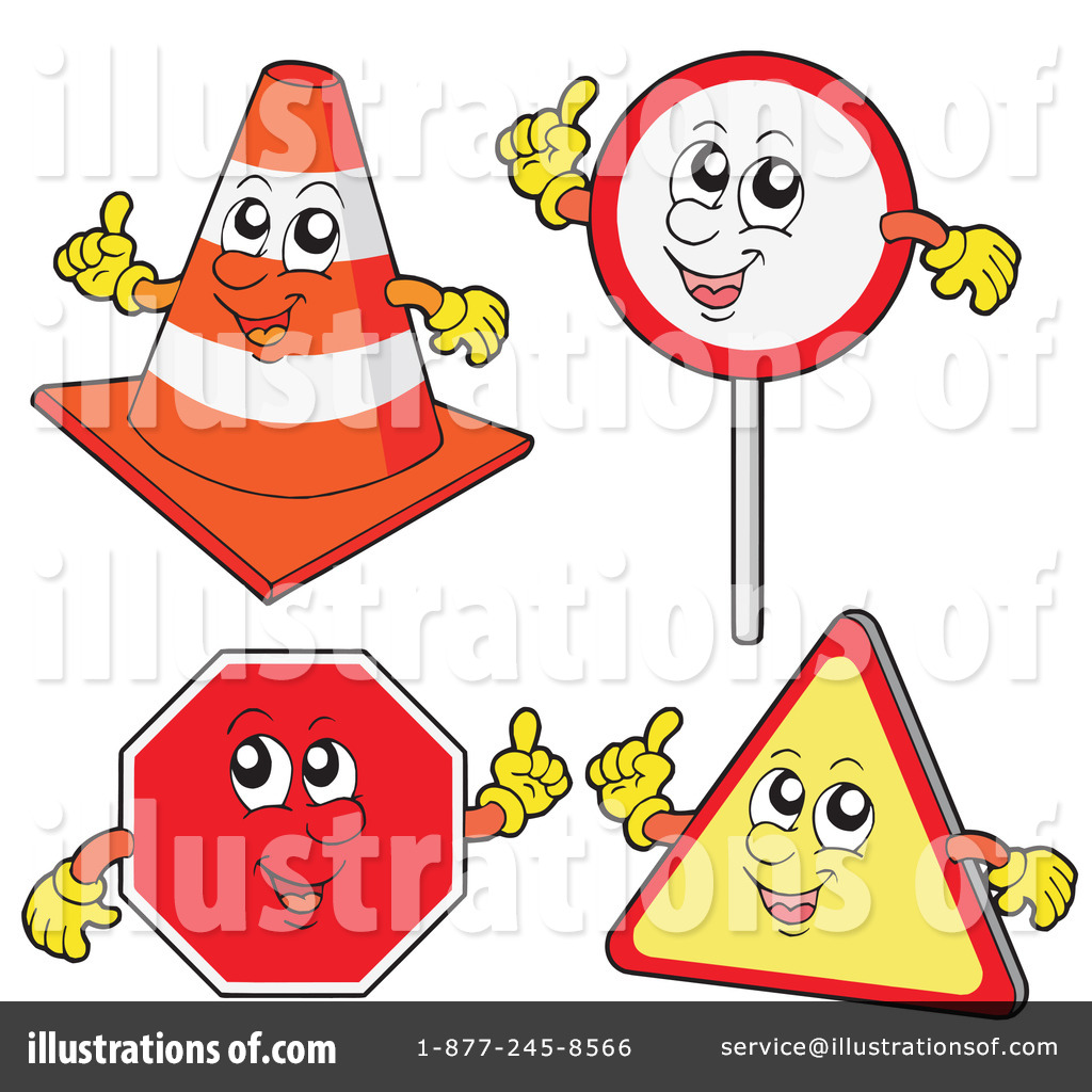 Road Sign Clipart #1060927 - Illustration by stockillustrations