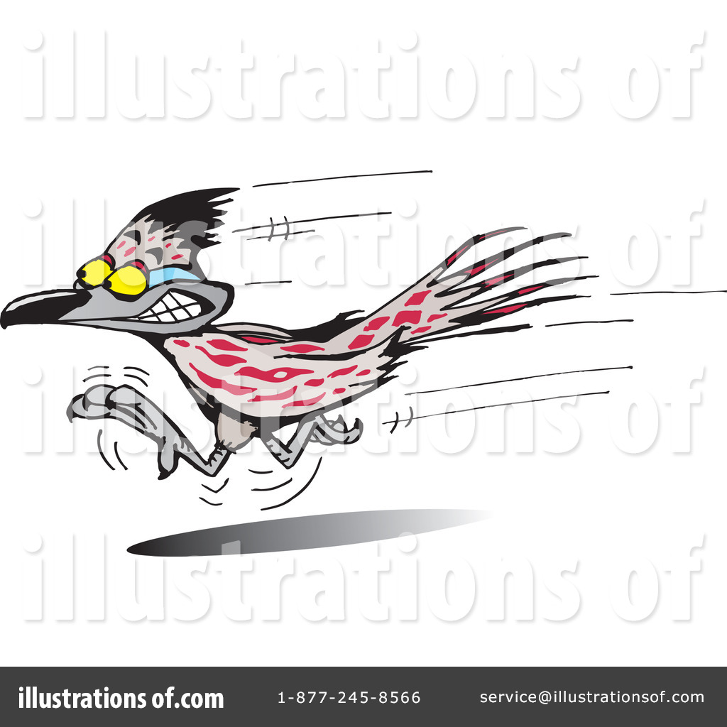 Roadrunner Clipart #65159 - Illustration by Dennis Holmes ...
