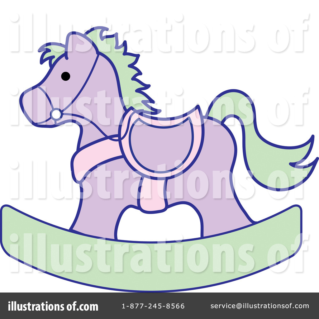 Rocking Horse Clipart #99115 - Illustration by Pams Clipart
