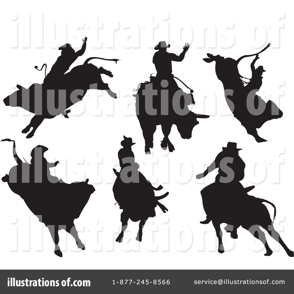Rodeo Clipart #69243 - Illustration by leonid