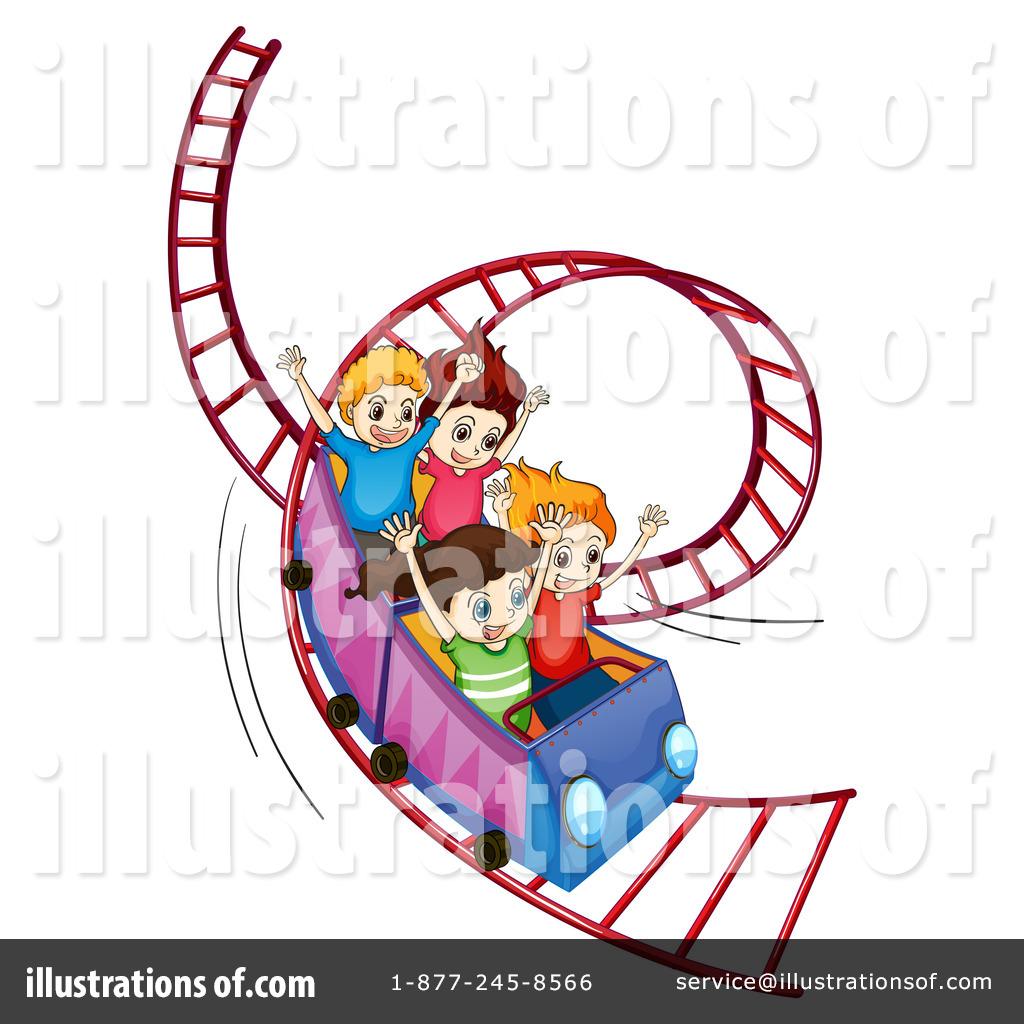 Roller Coaster Clipart #1237469 - Illustration by colematt