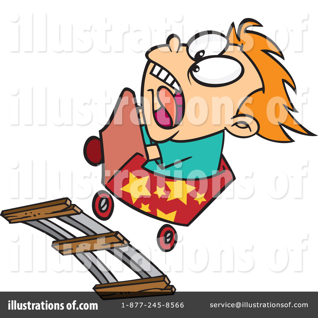 Roller Coaster Clipart #1046294 - Illustration by Ron Leishman