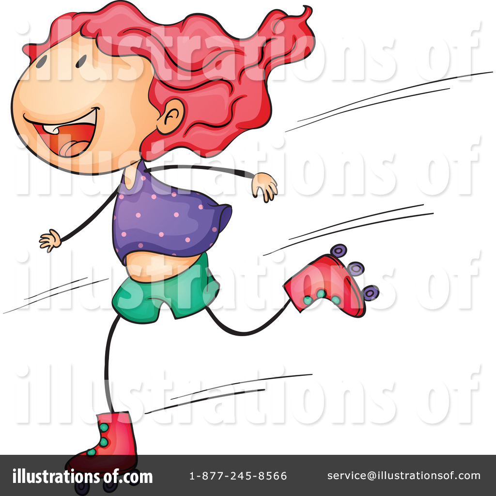 Roller Skating Clipart #1132802 - Illustration by colematt