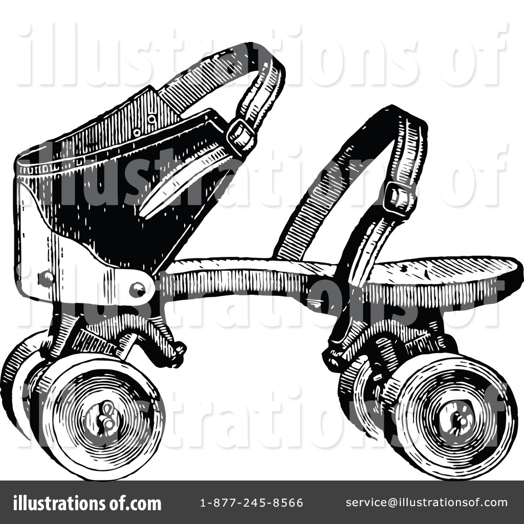 Roller Skating Clipart #1116051 - Illustration by Prawny Vintage