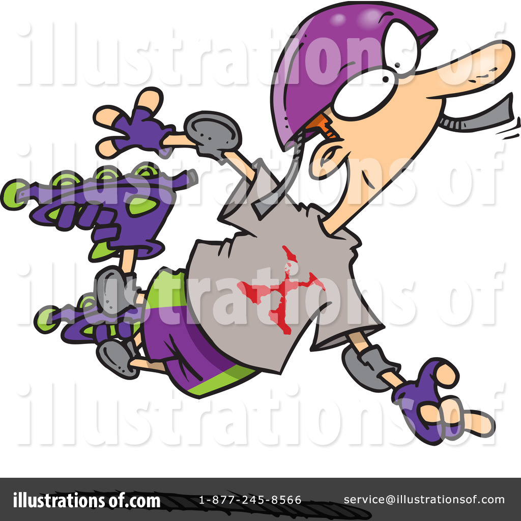 Rollerblading Clipart #434208 - Illustration by Ron Leishman