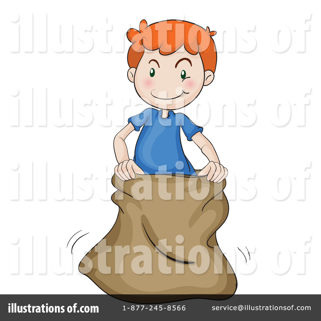 Sack Race Clipart #1136857 - Illustration by colematt