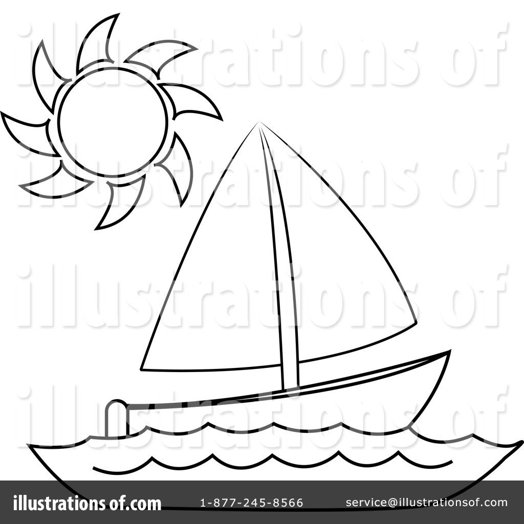 Sailboat Clipart #433800 - Illustration by Pams Clipart