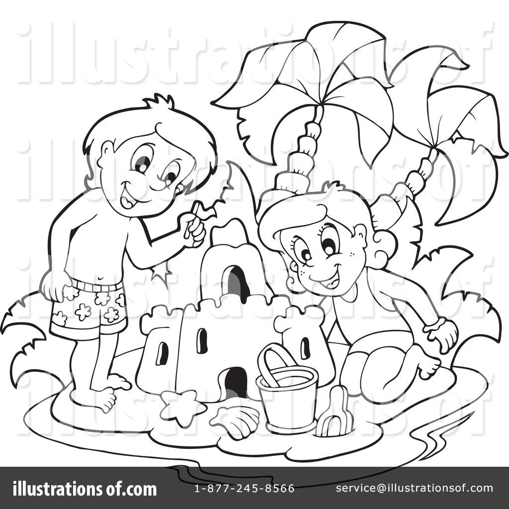 sandcastle clipart black and white. royaltyfree rf sand castle clipart illustration 1070175 by visekart sandcastle black and white a
