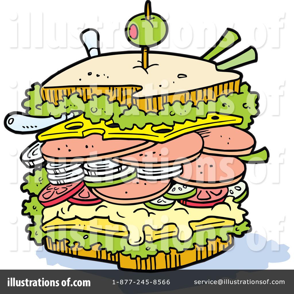 Sandwich Clipart #223880 - Illustration by Johnny Sajem