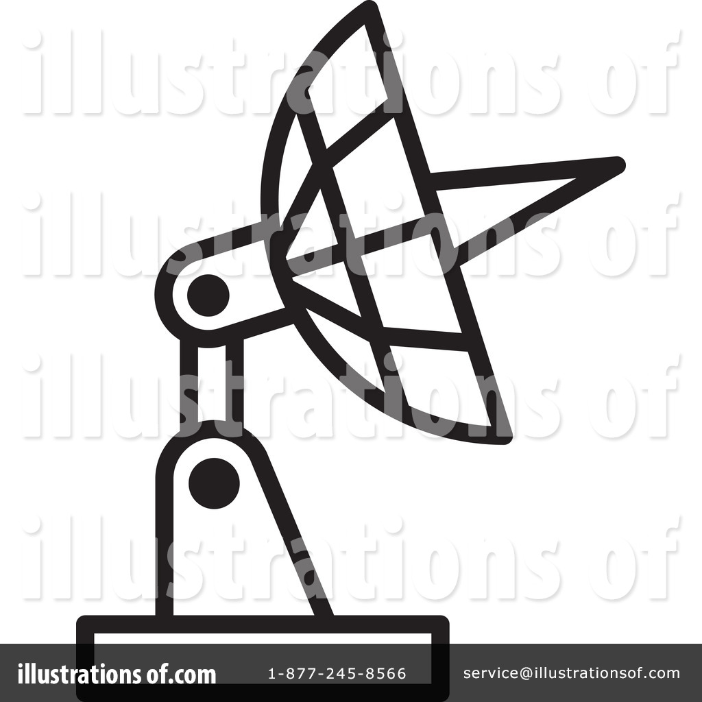 Large Satellite Dish Antenna Receiver And Transmitter For Television..  Royalty Free Cliparts, Vectors, And Stock Illustration. Image 108006624.