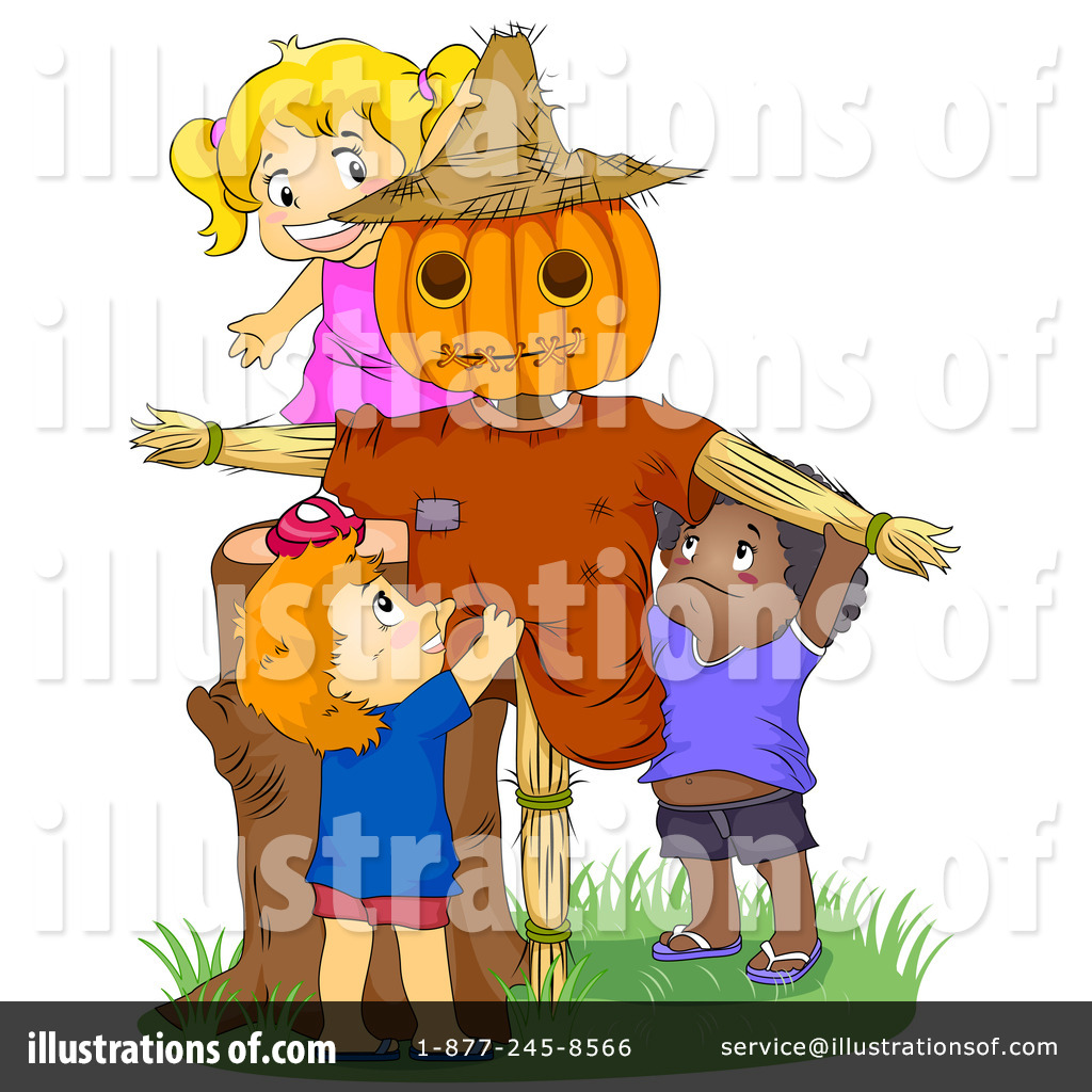 Scarecrow Clipart #227868 - Illustration by BNP Design Studio