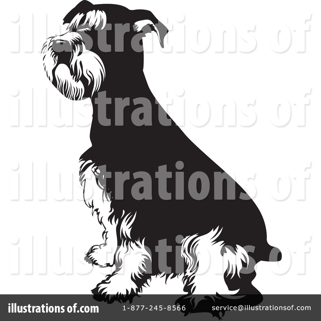 Schnauzer Clipart #85013 - Illustration by David Rey