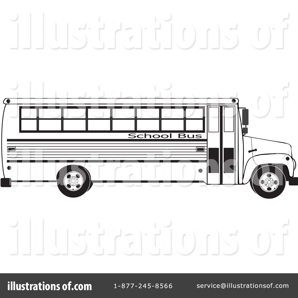 Line Drawing School : School bus clipart illustration by djart