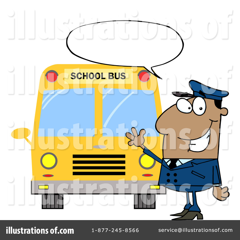 School Bus Driver Clipart #223290 - Illustration by Hit Toon