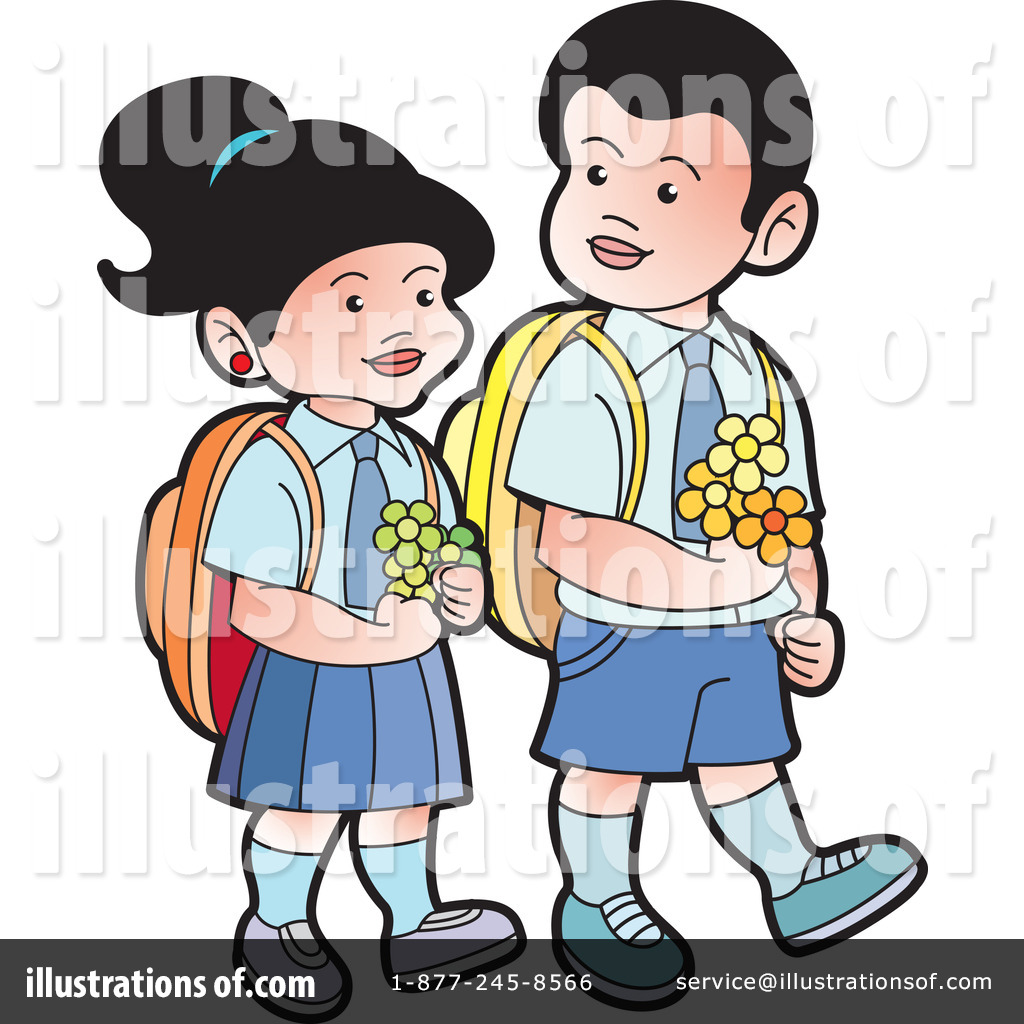 School Children Clipart #1052733 - Illustration by Lal Perera