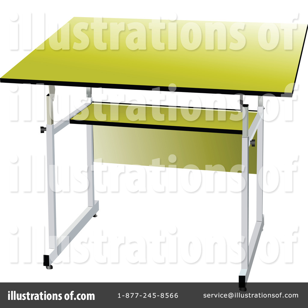 School Desk Clipart #228656 - Illustration by leonid for School Table Clipart  117dqh