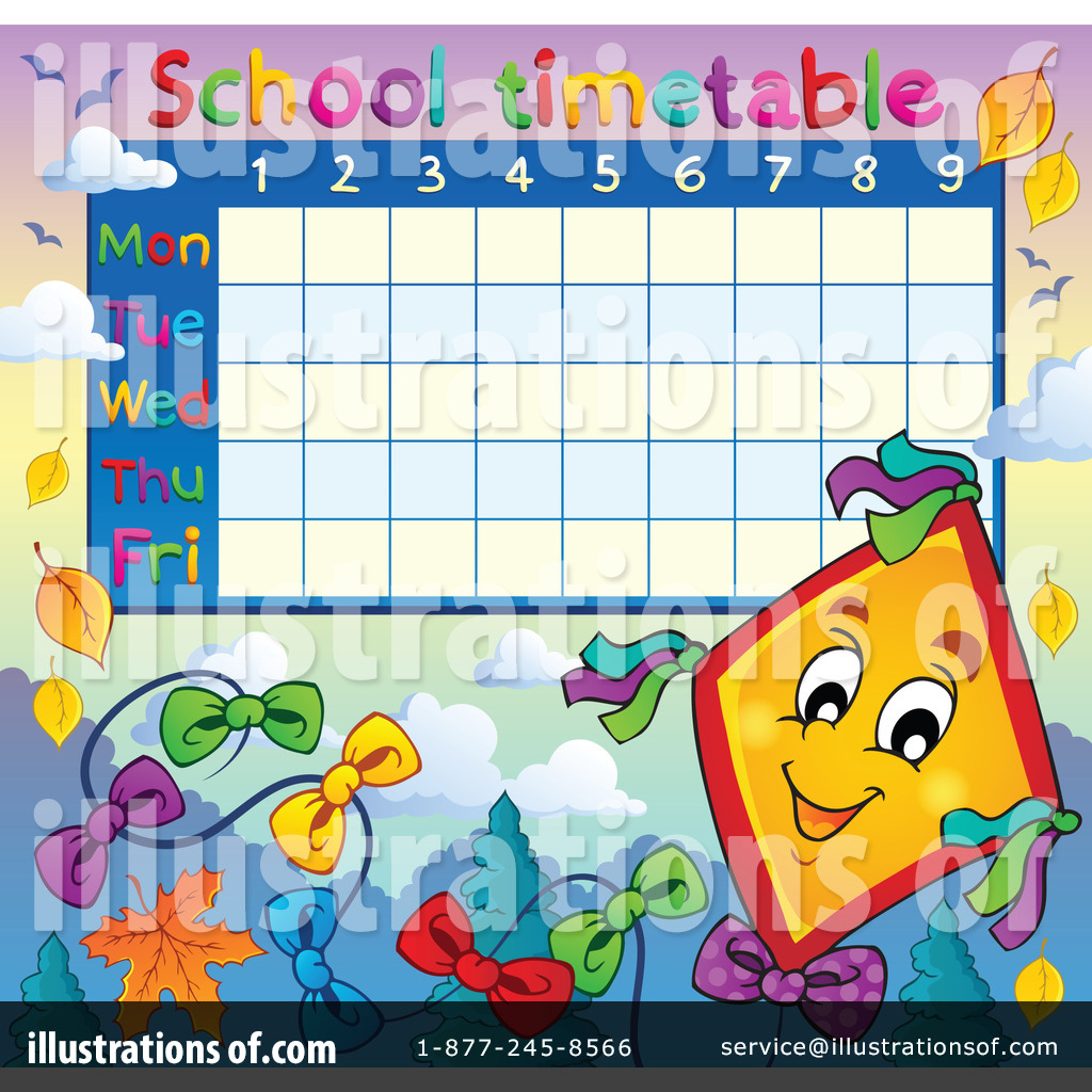 School Time Table Clipart #1207777 - Illustration by visekart for School Table Clipart  588gtk