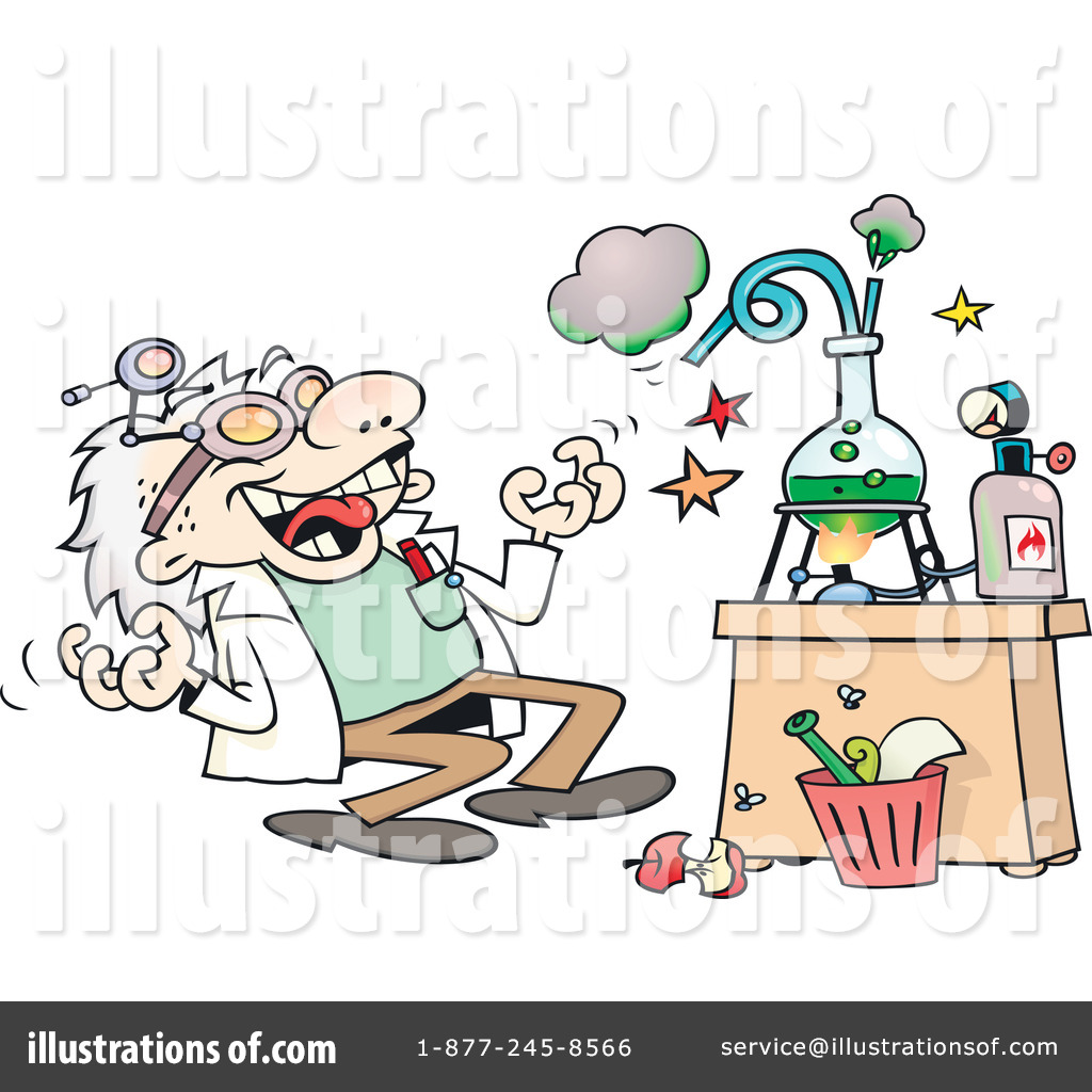 Scientist Clipart #1053324 - Illustration by gnurf