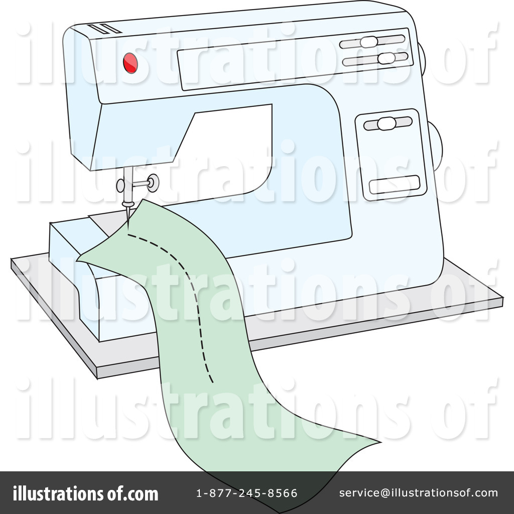 Sewing Machine Clipart #1058910 - Illustration by Alex Bannykh
