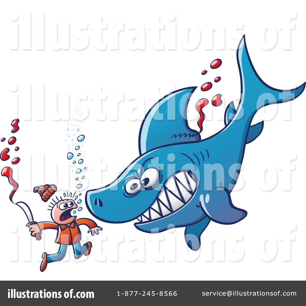 Shark Clipart #1099544 - Illustration by Zooco