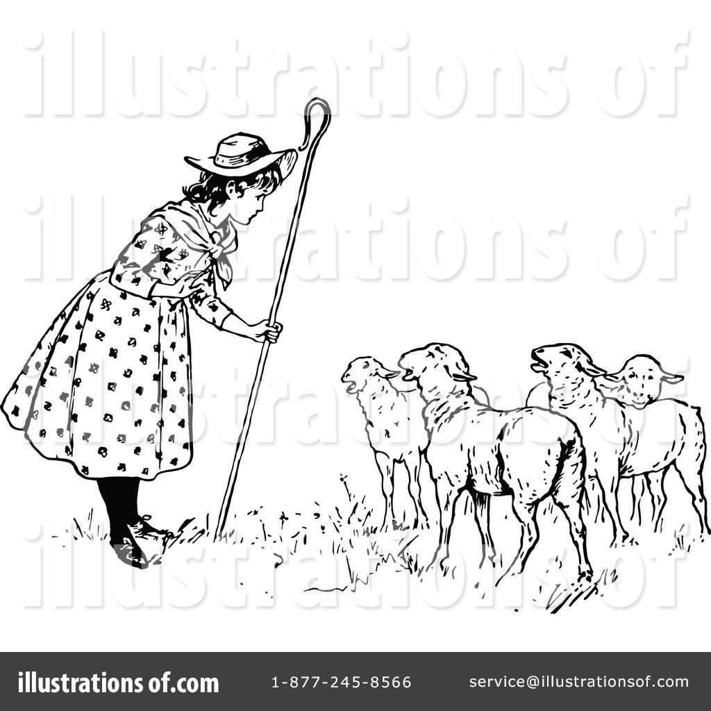 Shepherd Clipart #1166016 - Illustration by Prawny Vintage