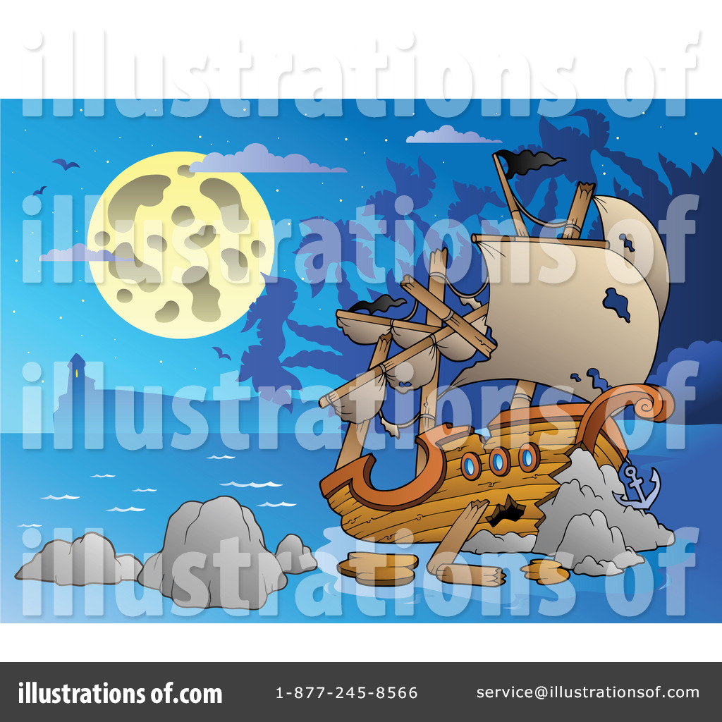 Shipwreck Clipart #1064179 - Illustration by visekart