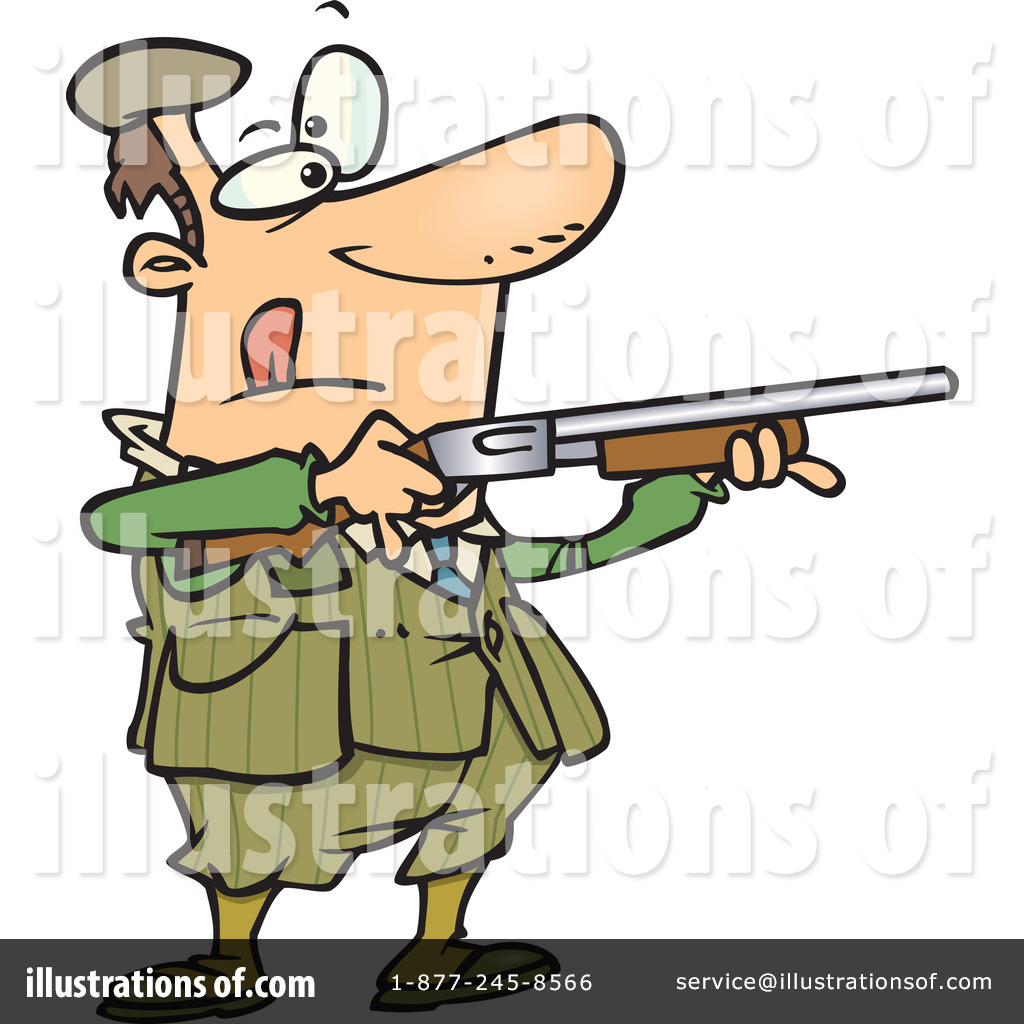 Shooting Clipart #1046979 - Illustration by Ron Leishman