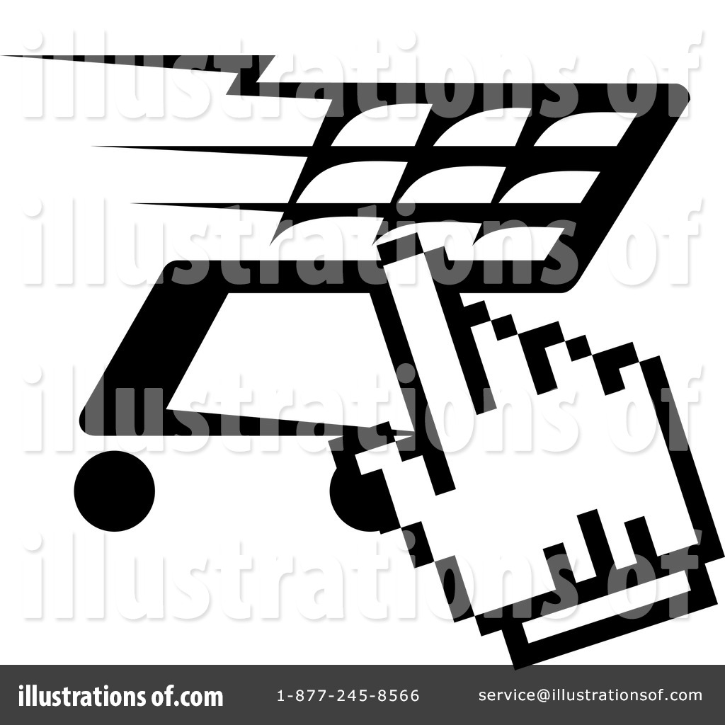 Shopping Cart Clipart #1258852 - Illustration by Vector Tradition SM