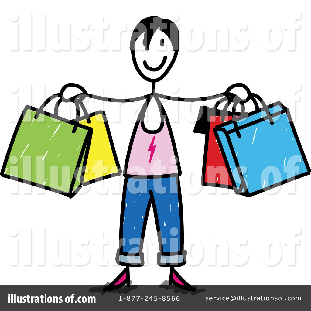 Shopping Clipart #1053985 - Illustration by Frog974