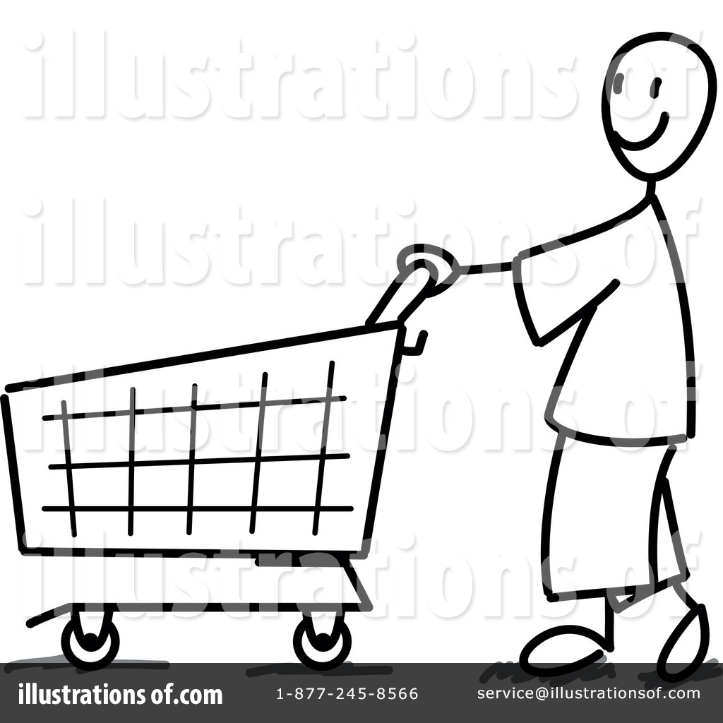 Royalty Free RF Shopping Clipart Illustration 1054002 By Frog974
