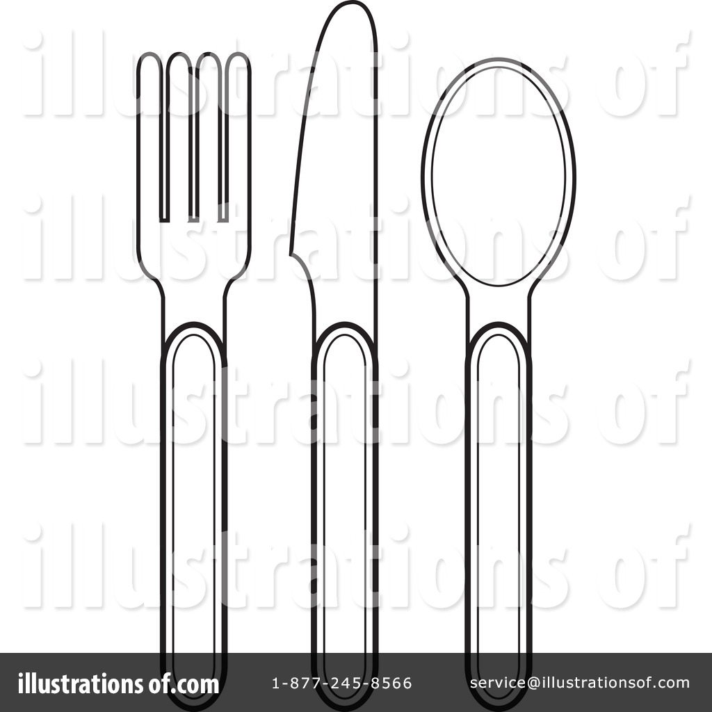 Silverware Clipart #1052746 - Illustration by Lal Perera