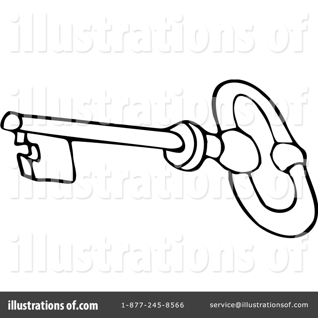 Free coloring page key - Royalty Free Rf Skeleton Key Clipart Illustration 1069035 By Djart