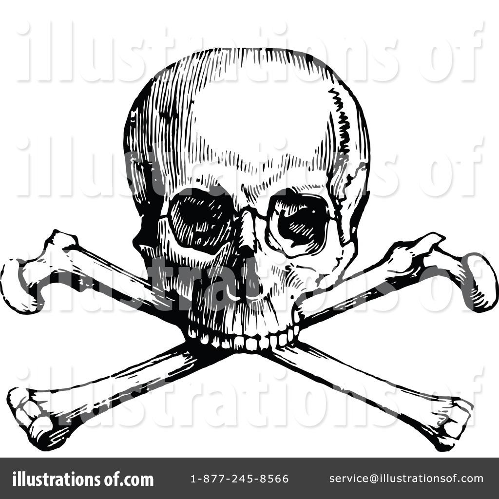 Skull And Crossbones Clipart #1115739 - Illustration by Prawny Vintage