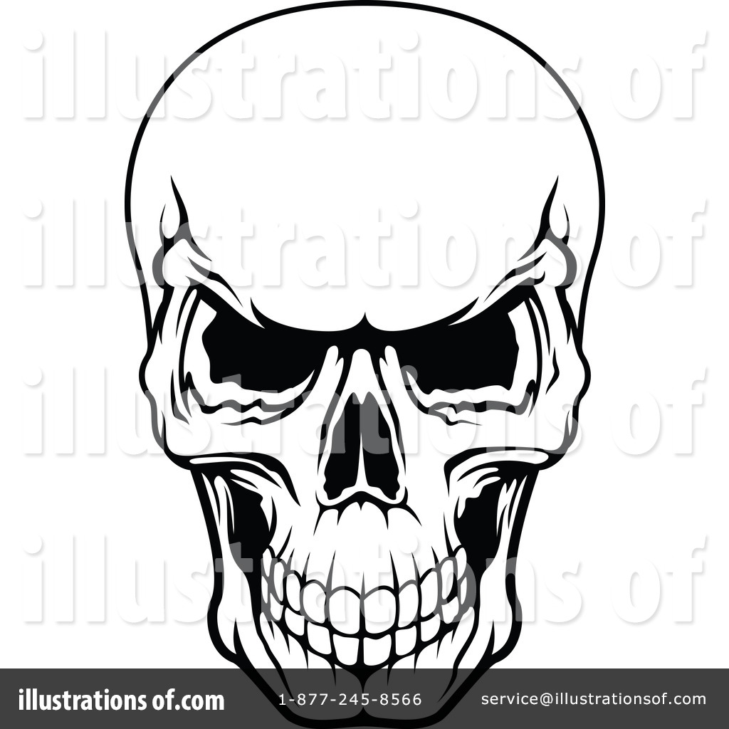 skull clipart 1115510 illustration by vector tradition sm rh illustrationsof com free skull clipart black and white free sugar skull clipart