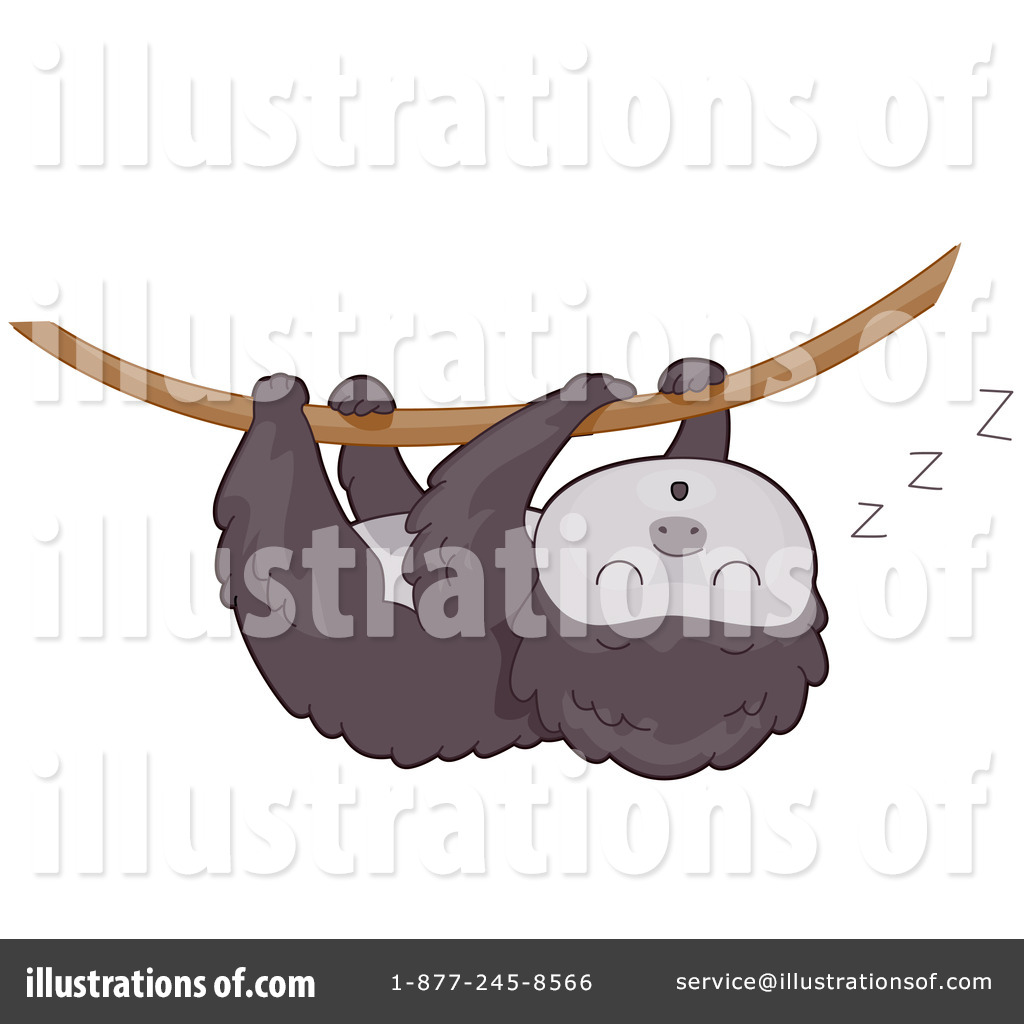 Sloth Clipart #432940 - Illustration by BNP Design Studio