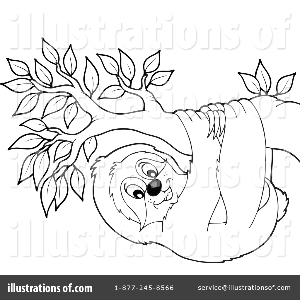 Sloth Clipart 1375005 Illustration By Visekart