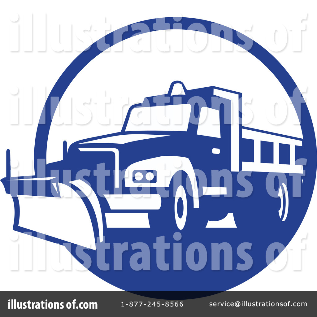 Snow Plow Clipart #1235364 - Illustration by patrimonio