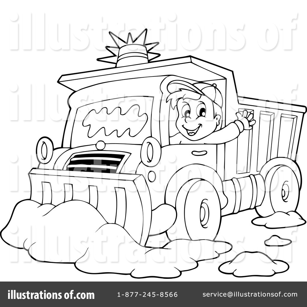 Snow Plow Coloring Pages - Coloring Pages