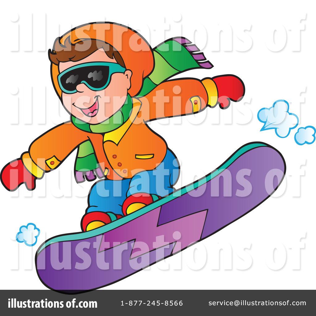 Snowboarding Clipart 1084826 Illustration By Visekart