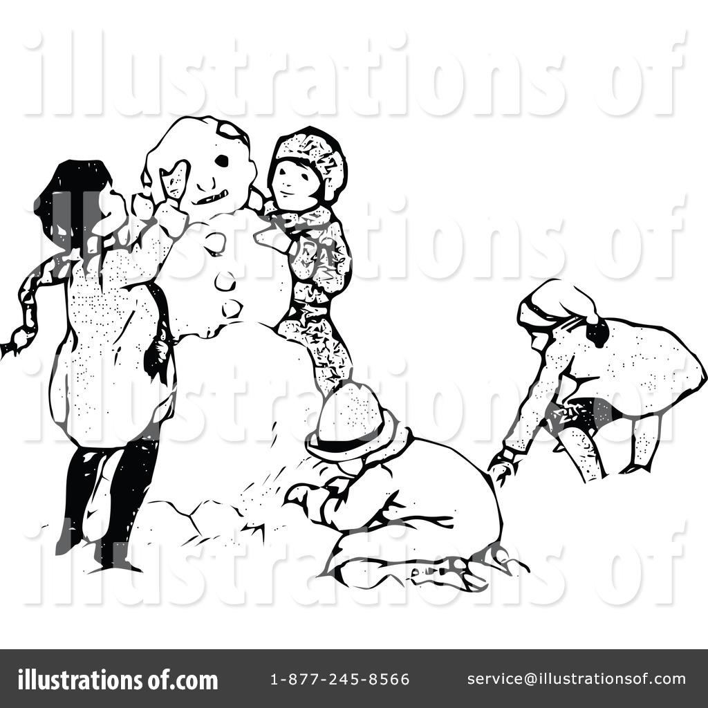 Royalty Free RF Snowman Clipart Illustration 1113124 By Prawny Vintage