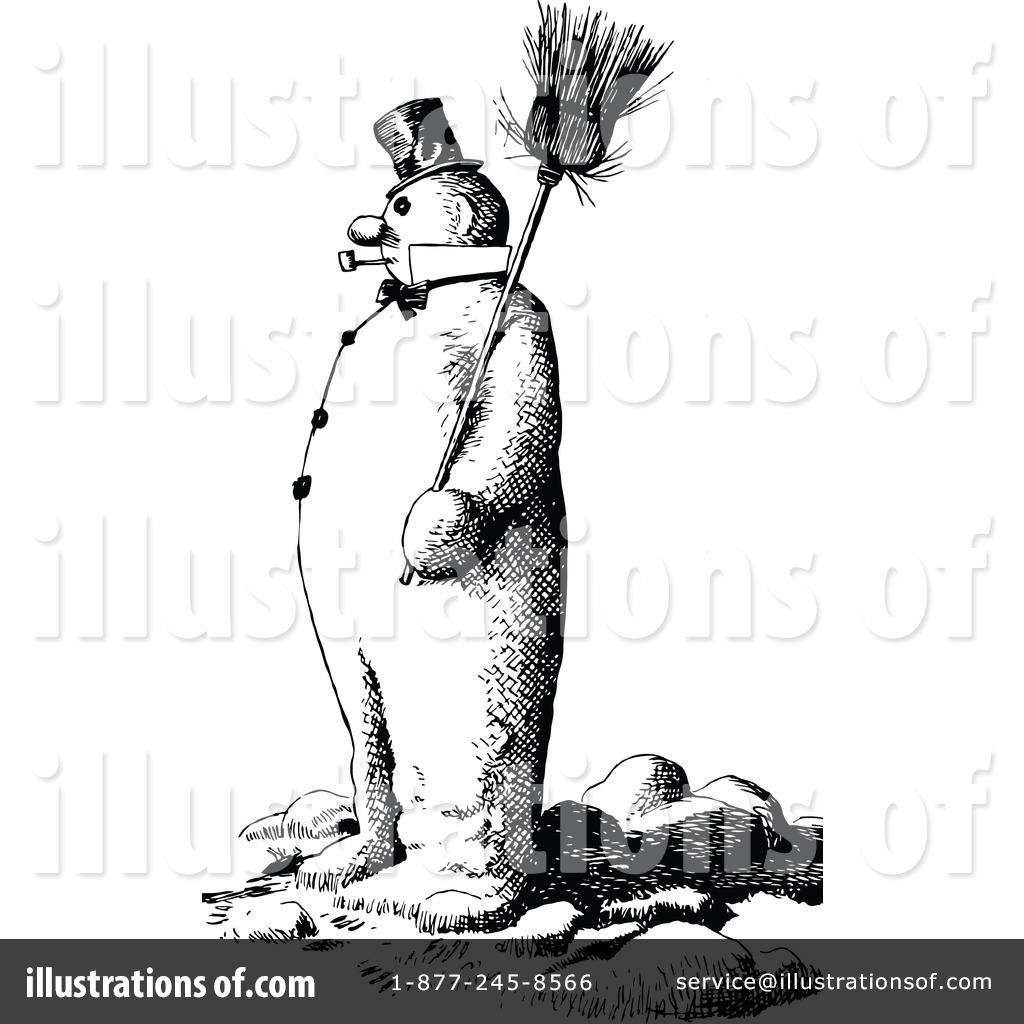 Royalty Free RF Snowman Clipart Illustration 1207105 By Prawny Vintage
